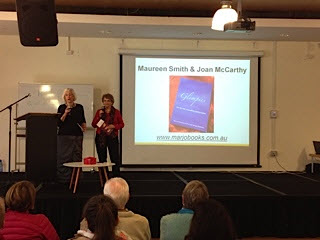Joan and Maureen talking about their books at the Local Authors Expo at Erina Library 22.7.15